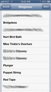 Ringtone List
