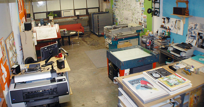 Baker Prints print shop in Northcenter Chicago